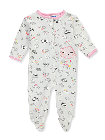 Bon Bebe Baby Girls' Footed Coverall - CookiesKids.com