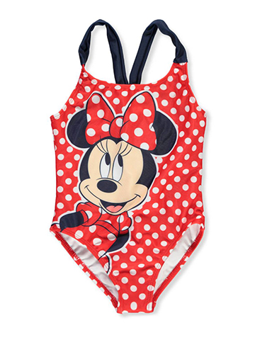 Minnie Mouse Girls' 1-Piece Swimsuit - CookiesKids.com