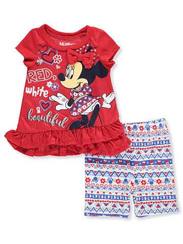 Disney Minnie Mouse Baby Girls' 2-Piece Short Set Outfit - CookiesKids.com