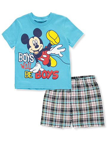 Mickey and the Roadster Racers Baby Boys' 2-Piece Short Set Outfit - CookiesKids.com