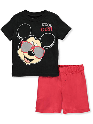 Mickey and the Roadster Racers Boys' 2-Piece Short Set Outfit - CookiesKids.com
