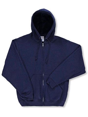 Jerzees Basic Fleece Zippered Hoodie with Drawstrings (Adult Sizes S – XL) - CookiesKids.com