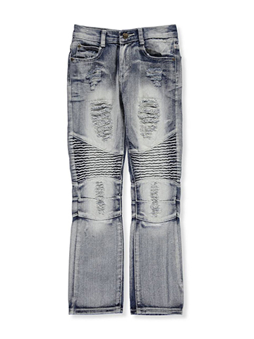 "GS-115 Big Boys' ""Paneled Ice Wash"" Jeans (Sizes 8 – 20) - CookiesKids.com"