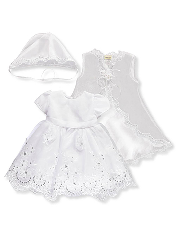 Ceci Kid Baby Girls' 3-Piece Christening Set - CookiesKids.com