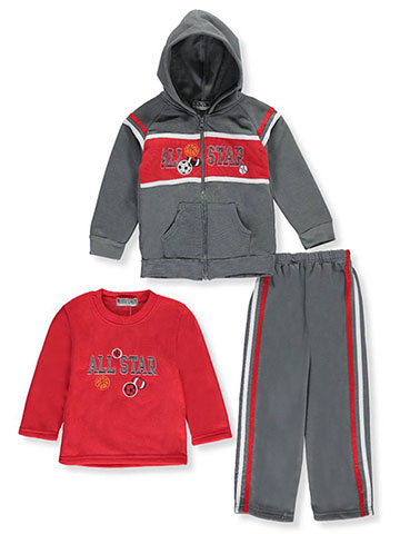 "Coney Island Little Boys' ""All-Star Drive"" 3-Piece Outfit (Sizes 4 – 7) - CookiesKids.com"