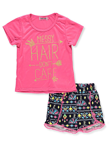 Coney Island Girls' 2-Piece Short Set Outfit - CookiesKids.com