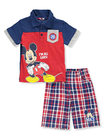Disney Mickey Mouse Boys' 2-Piece Short Set Outfit - CookiesKids.com