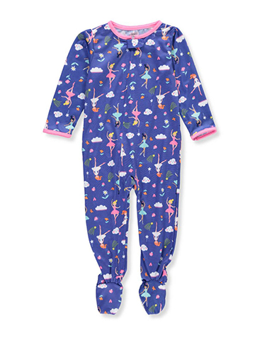 Carter's Girls' 1-Piece Footed Pajamas - CookiesKids.com