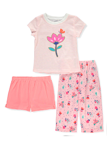 Carter's Baby Girls' 3-Piece Pajama Set - CookiesKids.com