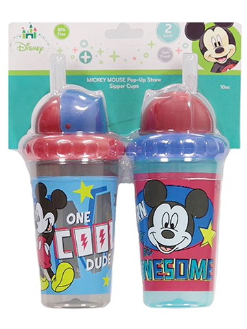 Mickey Mouse 2-Pack Sipper Cups (10 oz.) - CookiesKids.com