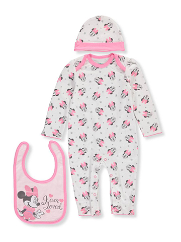 Minnie Mouse Baby Girls' 3-Piece Layette Set - CookiesKids.com