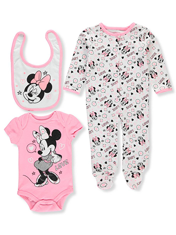 Disney Minnie Mouse Baby Girls' 3-Piece Layette Set - CookiesKids.com
