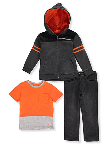 DKNY Little Boys' 3-Piece Outfit (Sizes 4 – 7) - CookiesKids.com