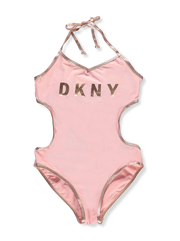 DKNY Girls' 1-Piece Swimsuit - CookiesKids.com
