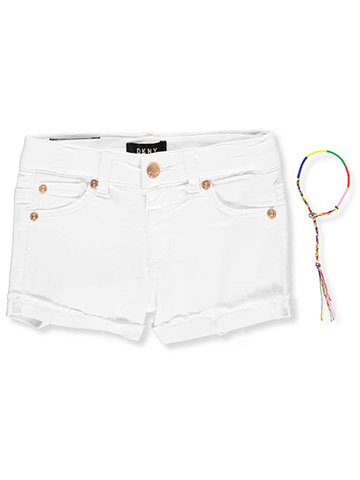DKNY Girls' Hipster Denim Shorts with Bracelet - CookiesKids.com