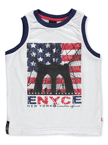 "Enyce Little Boys' ""American Bridge"" Tank Top (Sizes 4 – 7) - CookiesKids.com"