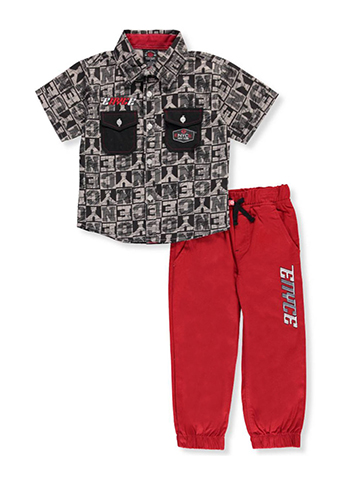 Enyce Little Boys' Toddler 2-Piece Pants Set Outfit (Sizes 2T - 4T) - CookiesKids.com