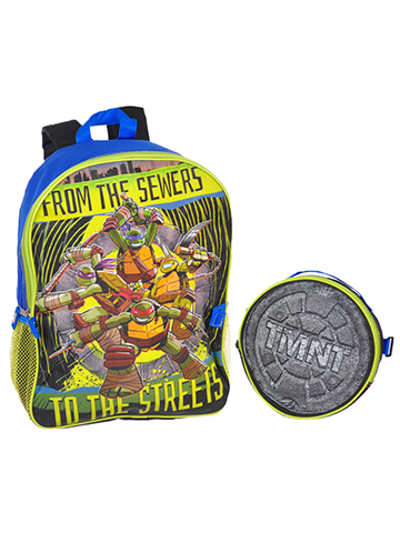 "TMNT ""Sewer to the Streets"" Backpack with Lunchbox - CookiesKids.com"