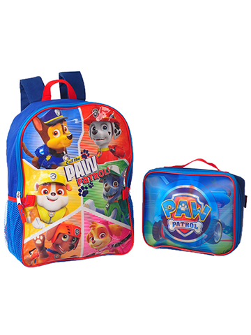 "Paw Patrol ""Hologram Logo"" Backpack with Lunchbox - CookiesKids.com"