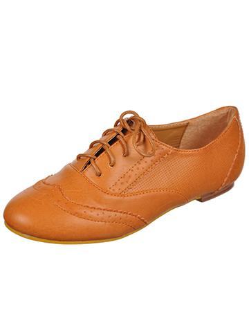 "Forever ""Whimsical Wingtip"" Oxford Loafer (Girls Youth Sizes 10 – 5) - CookiesKids.com"