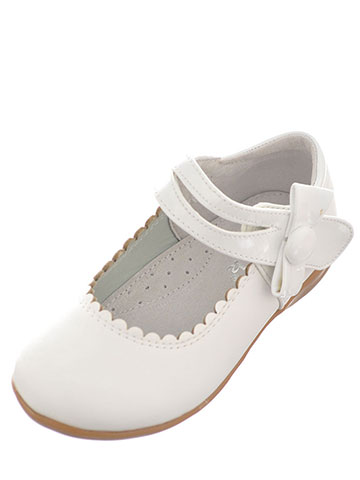 "Link Baby Girls' ""Scalloped Bow"" Mary Janes - CookiesKids.com"