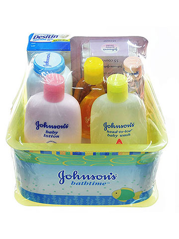 Johnson & Johnson Baby 7-Piece Bathtime Gift Set - CookiesKids.com