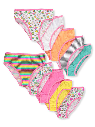 Simply Adorable Girls' 10-Pack Bikini Underwear - CookiesKids.com