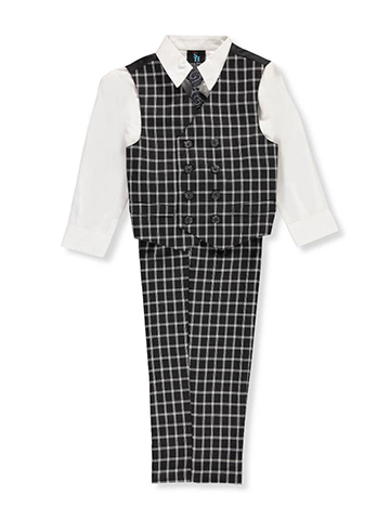Young Kings Little Boys' 4-Piece Vest Set (Sizes 4 – 7) - CookiesKids.com