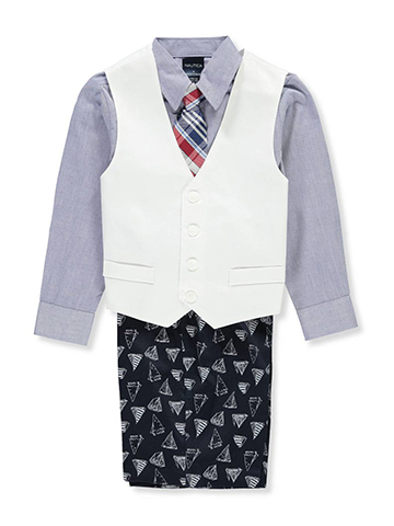 Nautica Boys' 4-Piece Vest Set - CookiesKids.com