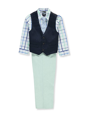 Izod Boys' 4-Piece Vest Set - CookiesKids.com