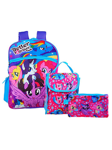 My Little Pony 5-Piece Backpack Set - CookiesKids.com