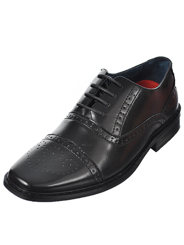 "Goodfellas Boys ""Brogue Wingtip Classic"" Dress Shoes (Youth Sizes 13 – 8) - CookiesKids.com"