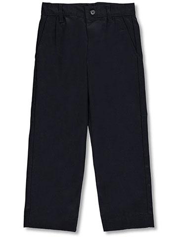 Galaxy Little Boys' School Uniform Double Knee Pleated Pants (Sizes 4 - 7) - CookiesKids.com