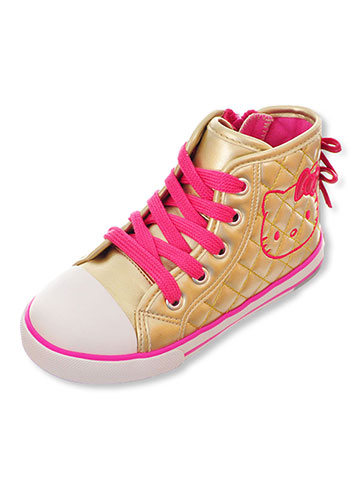 Hello Kitty Girls' Hi-Top Sneakers (Toddler Sizes 5 – 10) - CookiesKids.com