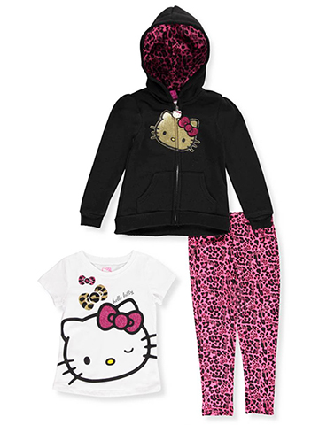 Hello Kitty Little Girls' Toddler 3-Piece Outfit (Sizes 2T – 4T) - CookiesKids.com