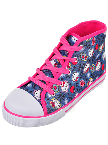 Hello Kitty Girls' Hi-Top Sneakers (Toddler Sizes 11 – 12) - CookiesKids.com