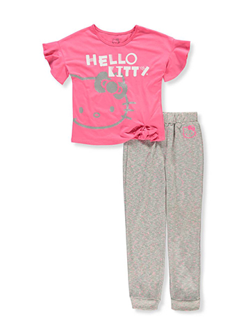 Hello Kitty Girls' 2-Piece Pants Set Outfit - CookiesKids.com
