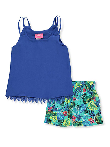 Girls Luv Pink Girls' 2-Piece Short Set Outfit - CookiesKids.com