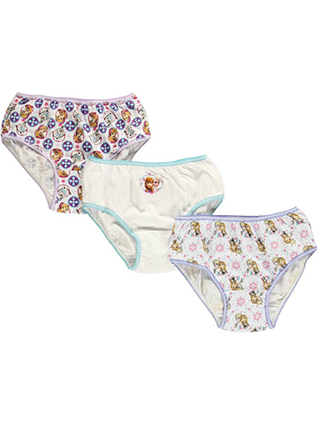 Disney Frozen Girls' 3-Pack Panties Featuring Anna, Elsa & Olaf - CookiesKids.com