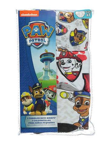 "Paw Patrol Little Boys' Toddler ""Anchor Medley"" 3-Pack Briefs (Sizes 2T – 4T) - CookiesKids.com"