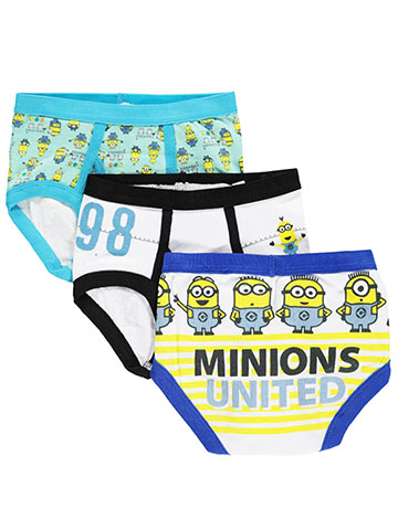 "Despicable Me 2 Little Boys' Toddler ""Minion Stack"" 3-Pack Briefs (Sizes 2T – 4T) - CookiesKids.com"