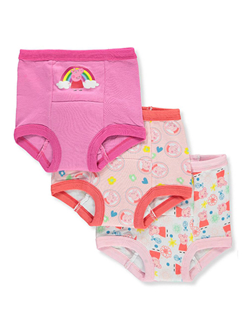Peppa Pig Girls' 3-Pack Training Pants & Chart Set - CookiesKids.com