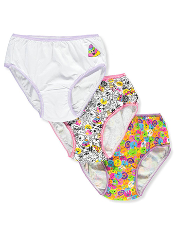 Emojination Girls' 3-Pack Briefs - CookiesKids.com