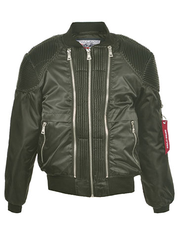 "Swiss Cross Big Boys' ""Moto Flight"" Flight Jacket (Sizes 8 – 20) - CookiesKids.com"