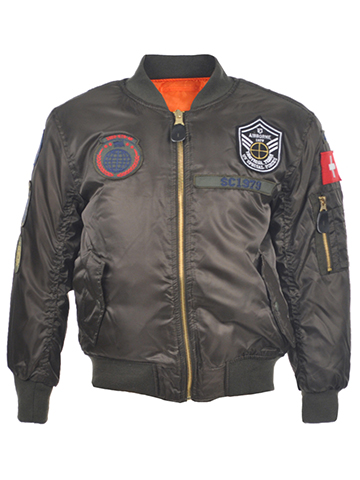 "Swiss Cross Little Boys' Toddler ""Airborne '79"" Reversible Flight Jacket (Sizes 2T – 4T) - CookiesKids.com"