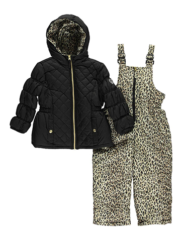 "Pink Platinum Little Girls' ""Snow Castle"" 2-Piece Snowsuit (Sizes 4 – 6X) - CookiesKids.com"