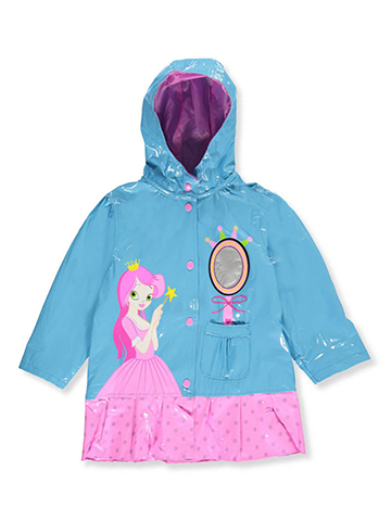 "Wippette Little Girls' ""Fairest Princess"" Rain Jacket (Sizes 4 – 6X) - CookiesKids.com"