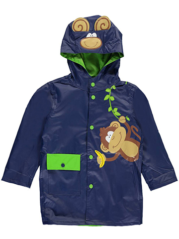 "Wippette Little Boys' ""Monkey Business"" Rain Jacket (Sizes 4 – 7) - CookiesKids.com"