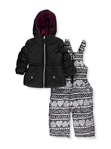 Pink Platinum Little Girls' 2-Piece Snowsuit (Sizes 4 – 6X) - CookiesKids.com