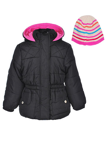 Pink Platinum Girls' Insulated Jacket with Hat - CookiesKids.com
